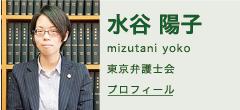 水谷陽子プロフィール(東京弁護士会)